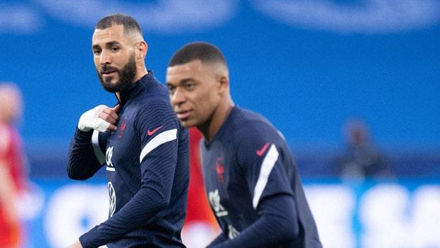Kylian Mbappe and Karim Benzema France Euro 2020