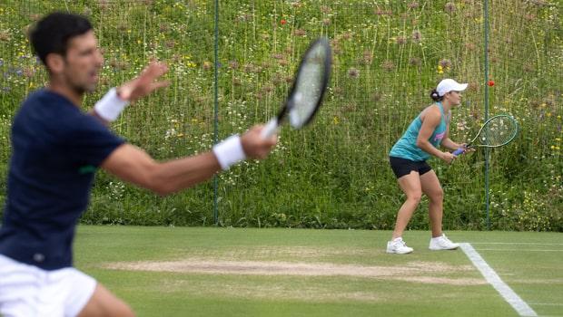 Ashleigh Barty Novak Djokovic