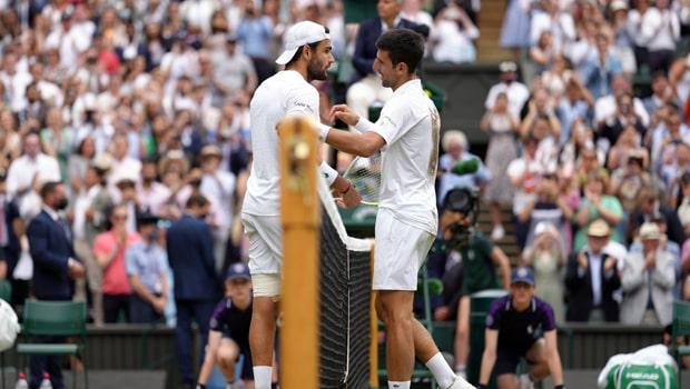 Novak Djokovic and Matteo Berrettini