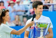 Annabel Croft and Novak Djokovic
