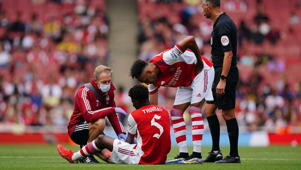 Thomas Partey injured in Arsenal's Pre-season loss to Chelsea
