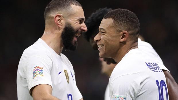 Kylian Mbappe and Karim Benzema France