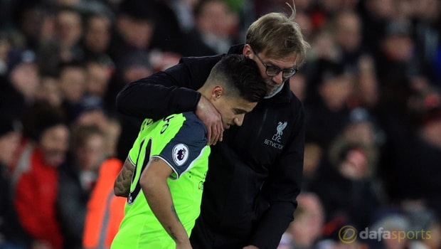 Liverpool-midfielder-Philippe-Coutinho-and-Jurgen-Klopp