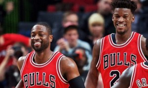 Dwayne Wade and Jimmy Butler Chicago Bulls NBA